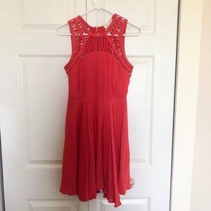 Burnt Orange Cut Out Dress
